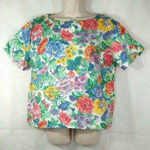 Vintage Talbott Shirt Top Boatneck Women Size 16
